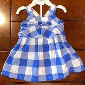 Carter's Blue Checkered Dress with Bloomers